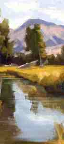 "Ted Pankowski, ""Mountain Stream"" (oil)"